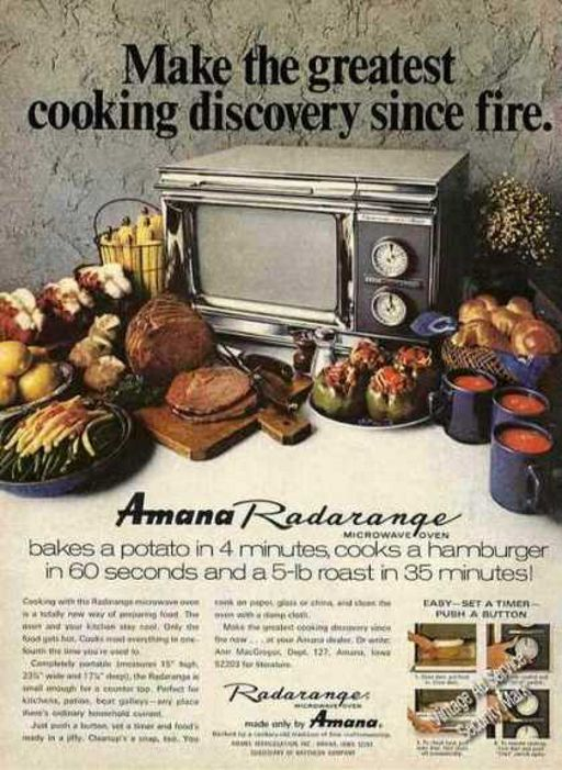 Amana Radarange Microwave Oven Advertising From 1972 The