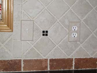 Installed Ceramic Tile Switch Plate Covers