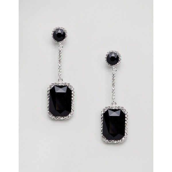 Johnny Loves Rosie Large Gem Drop Earrings With Black 21 Liked