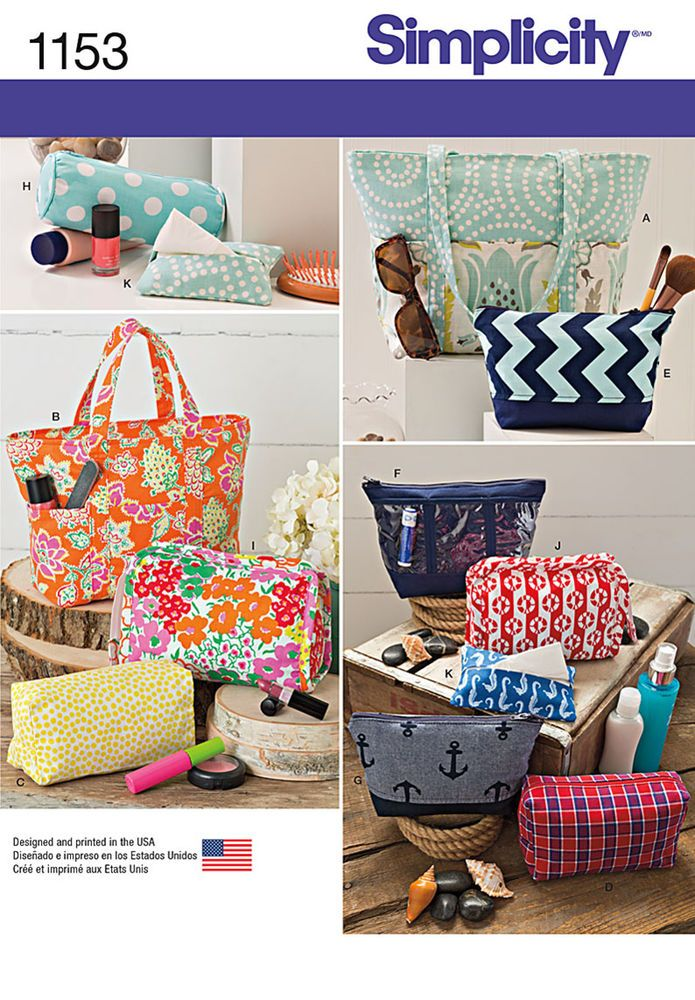 7ff81ce89cb7 Simplicity pattern 1153. keep organized with these bag accessories. pattern  includes tote bag