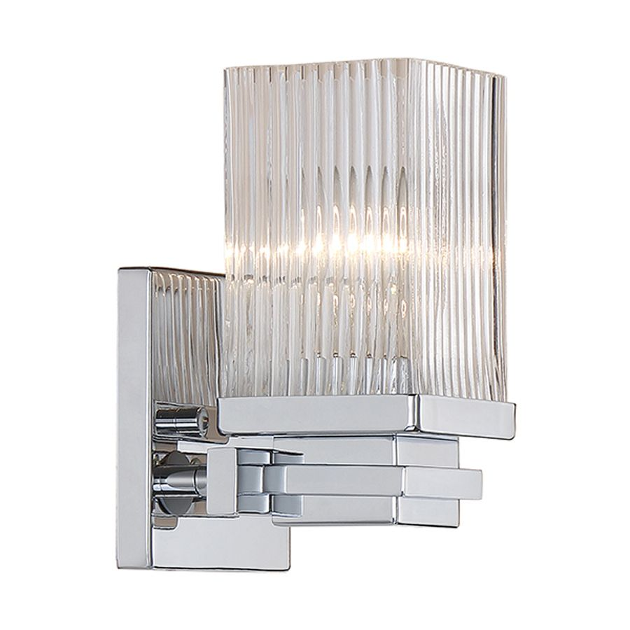 Millennium Lighting 1 Light 7 In Chrome Rectangle Vanity Light Lowes Com Bathroom Sconces Millennium Lighting Sconces