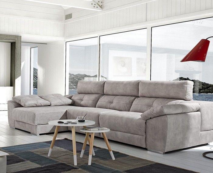 Sof chaise longue moderno gris 1041 12 home en 2019 - Chaise longue modernos ...
