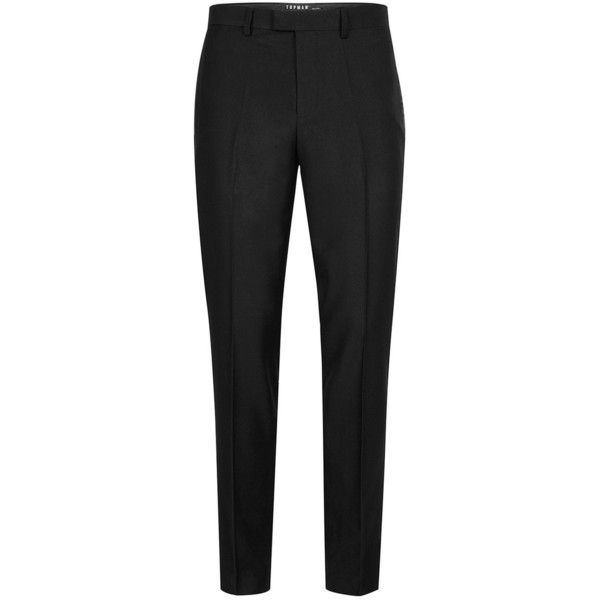 Topman Black Skinny Fit Tuxedo Trousers 3000 Inr Liked On