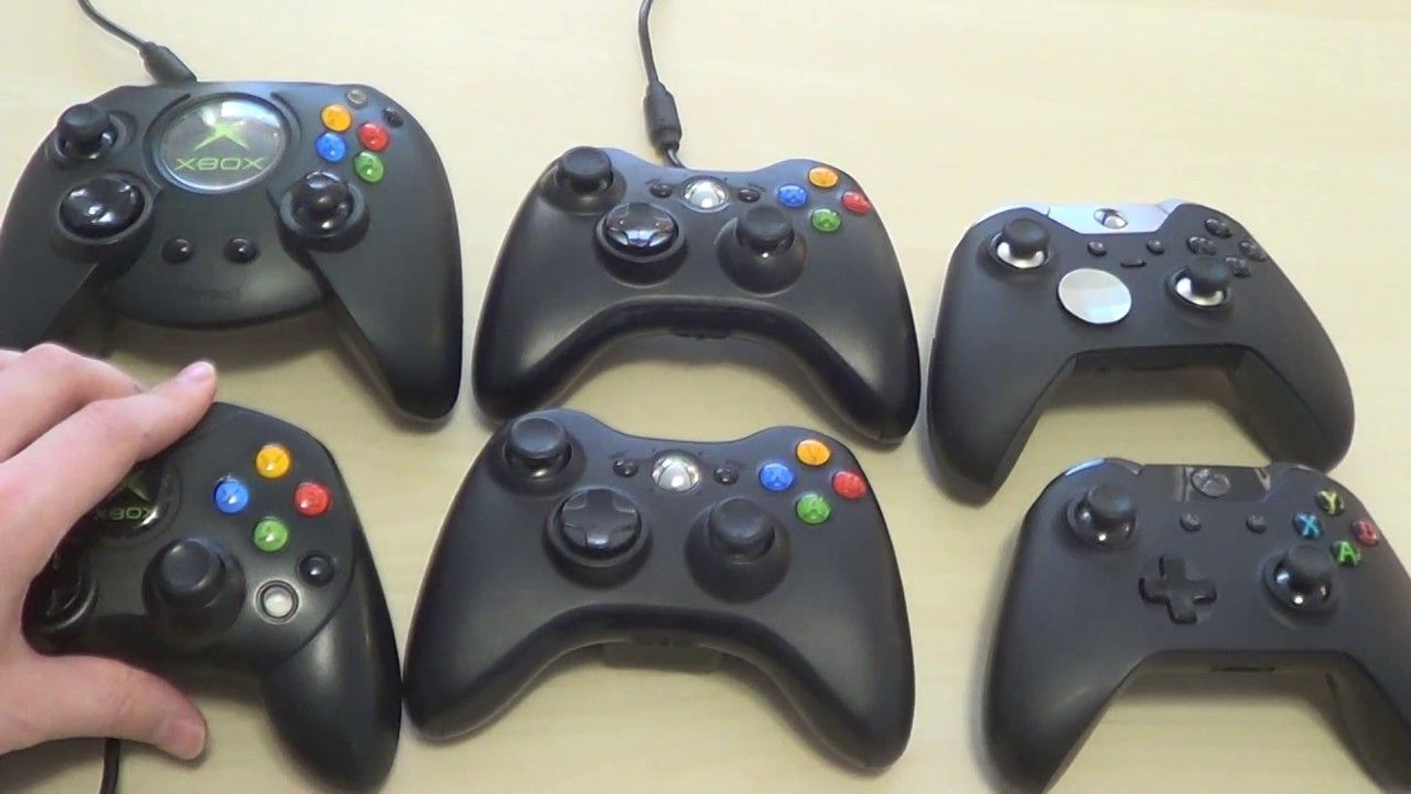 Old Xbox Controller Games : Evolution of xbox controllers from left to right top row