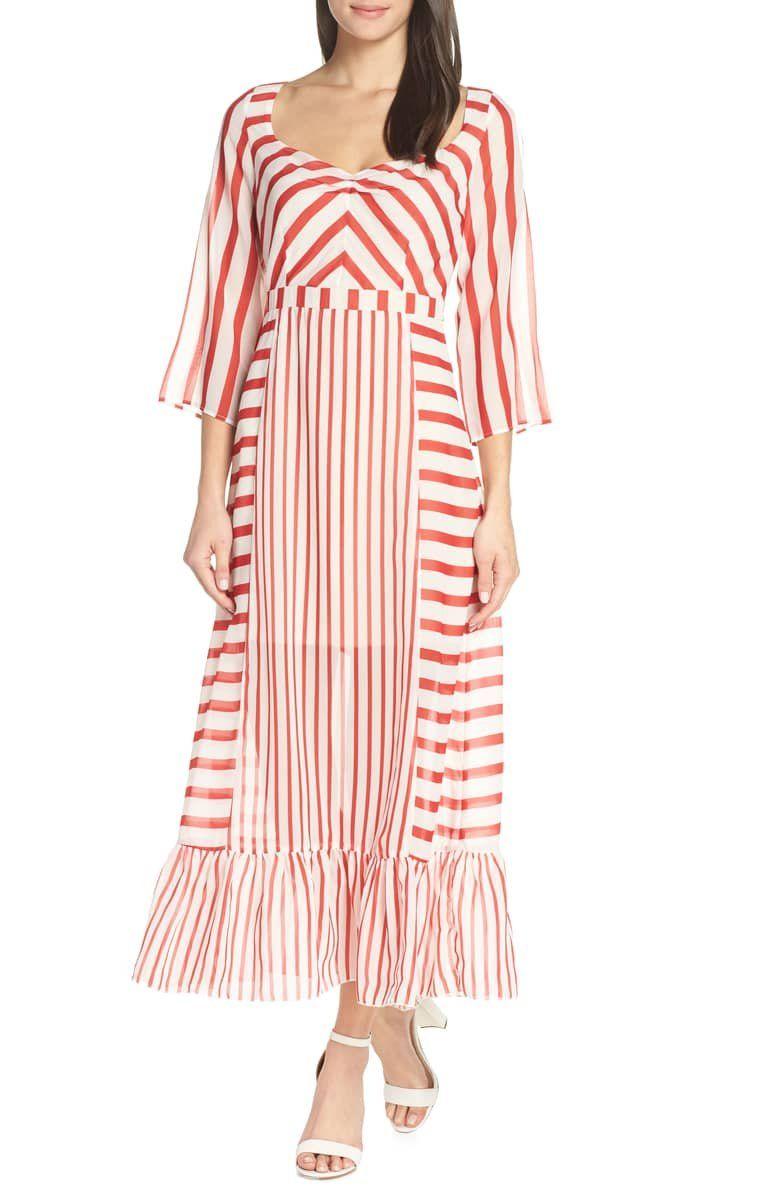 Chelsea28 Multi Stripe Maxi Dress Nordstrom Striped Maxi Dresses Striped Maxi Maxi Dress [ 1196 x 780 Pixel ]