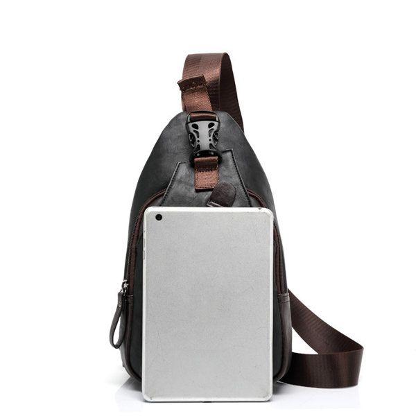 582bf15f3 Men PU Crossbody Bag Capacity Leisure Shoulder Chest Bag - US$19.15 ...