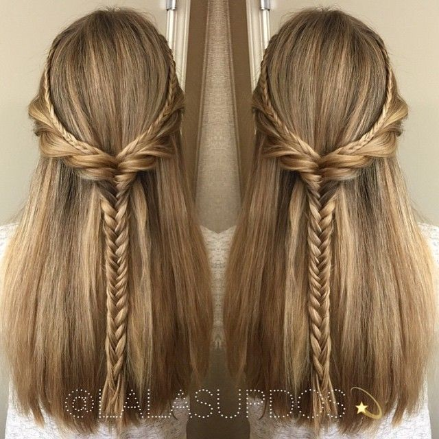 15 Latest Half Up Half Down Wedding Hairstyles For Trendy: Laura Kaszoni -Romanian ️ @lalasupdos Love Me Some Boho