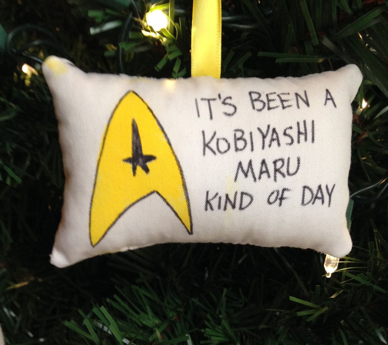 "Mccoys Christmas Trees: Star Trek Logo ""Kobiyashi Maru Kind Of Day"" Christmas"