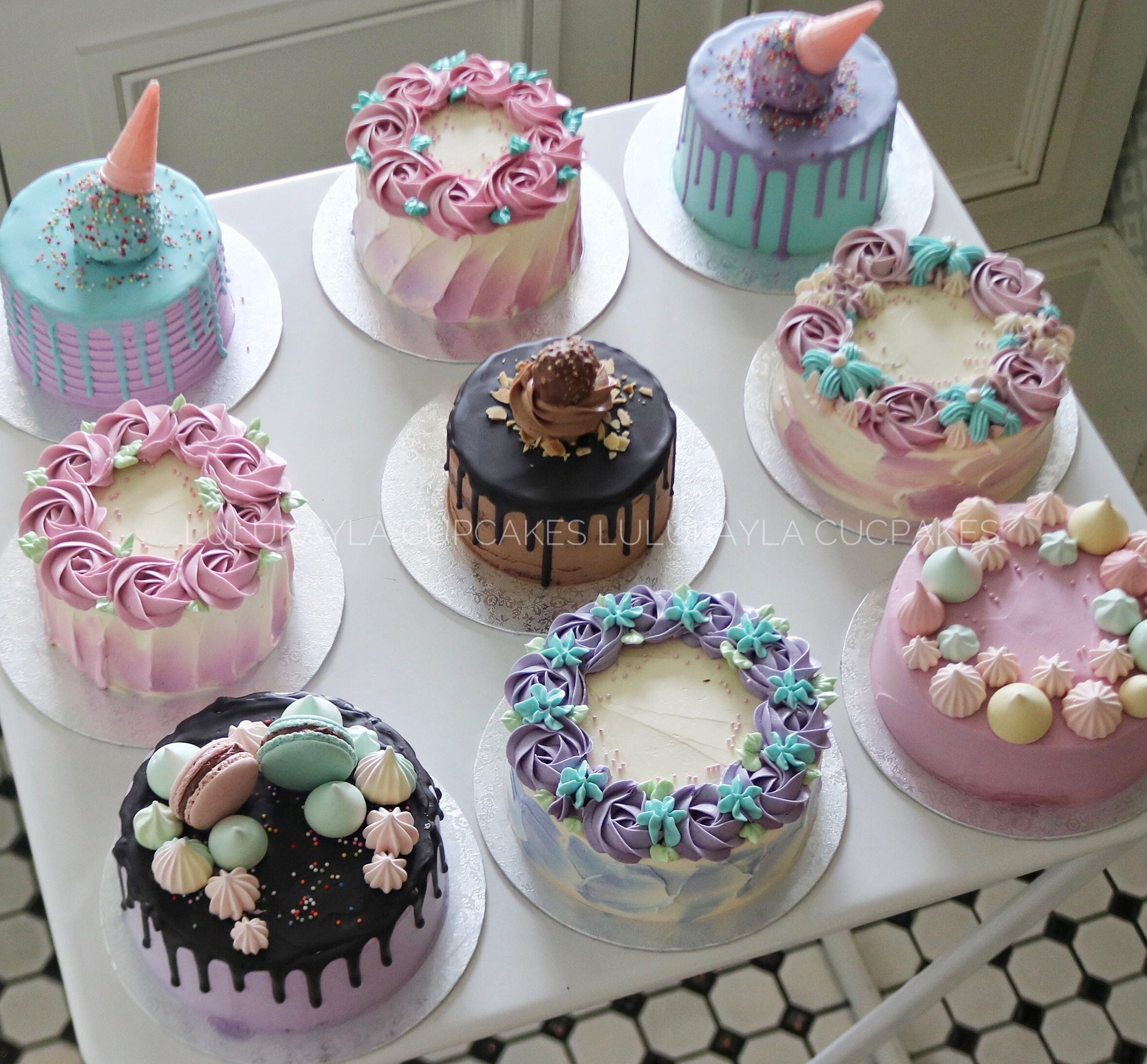 Buttercream Cake Yummy Cakes Cupcake Cakes Mini Cakes