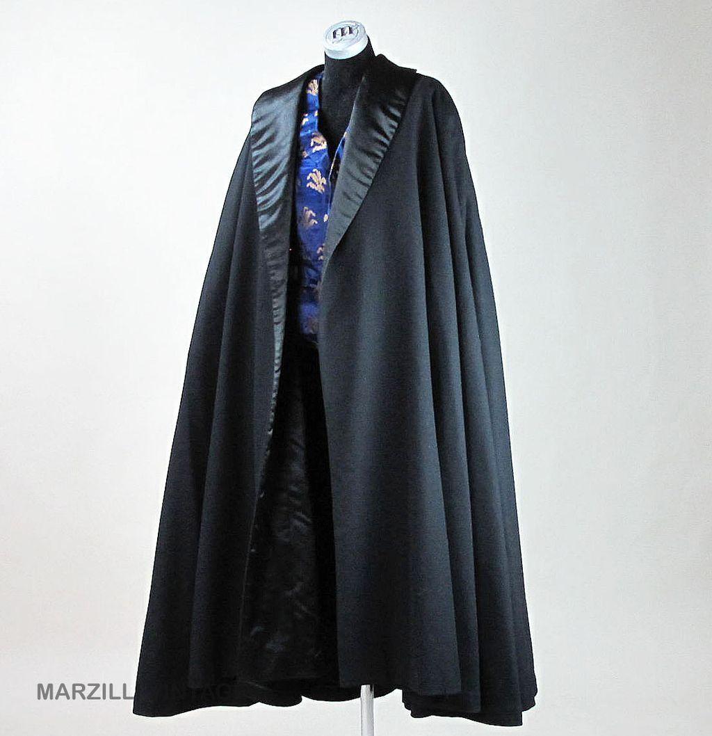 Rare Men's French Edwardian Cashmere & Silk Opera Cloak ...