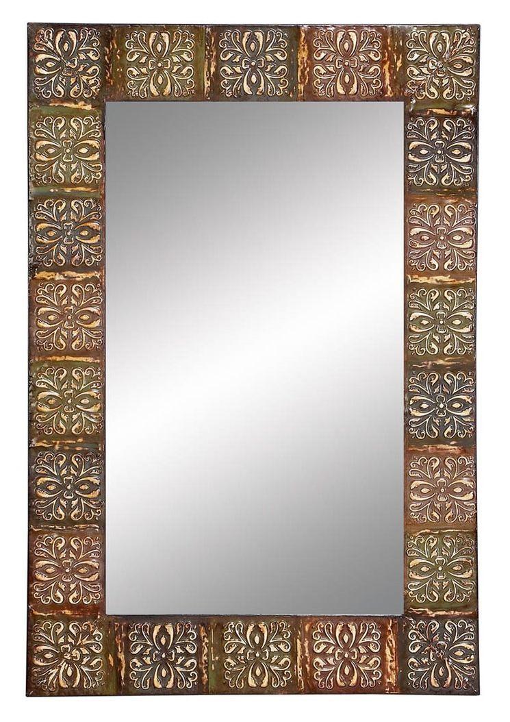 Embossed Metal Frame Wall Mirror | Bright Ideas | Pinterest | Frames ...