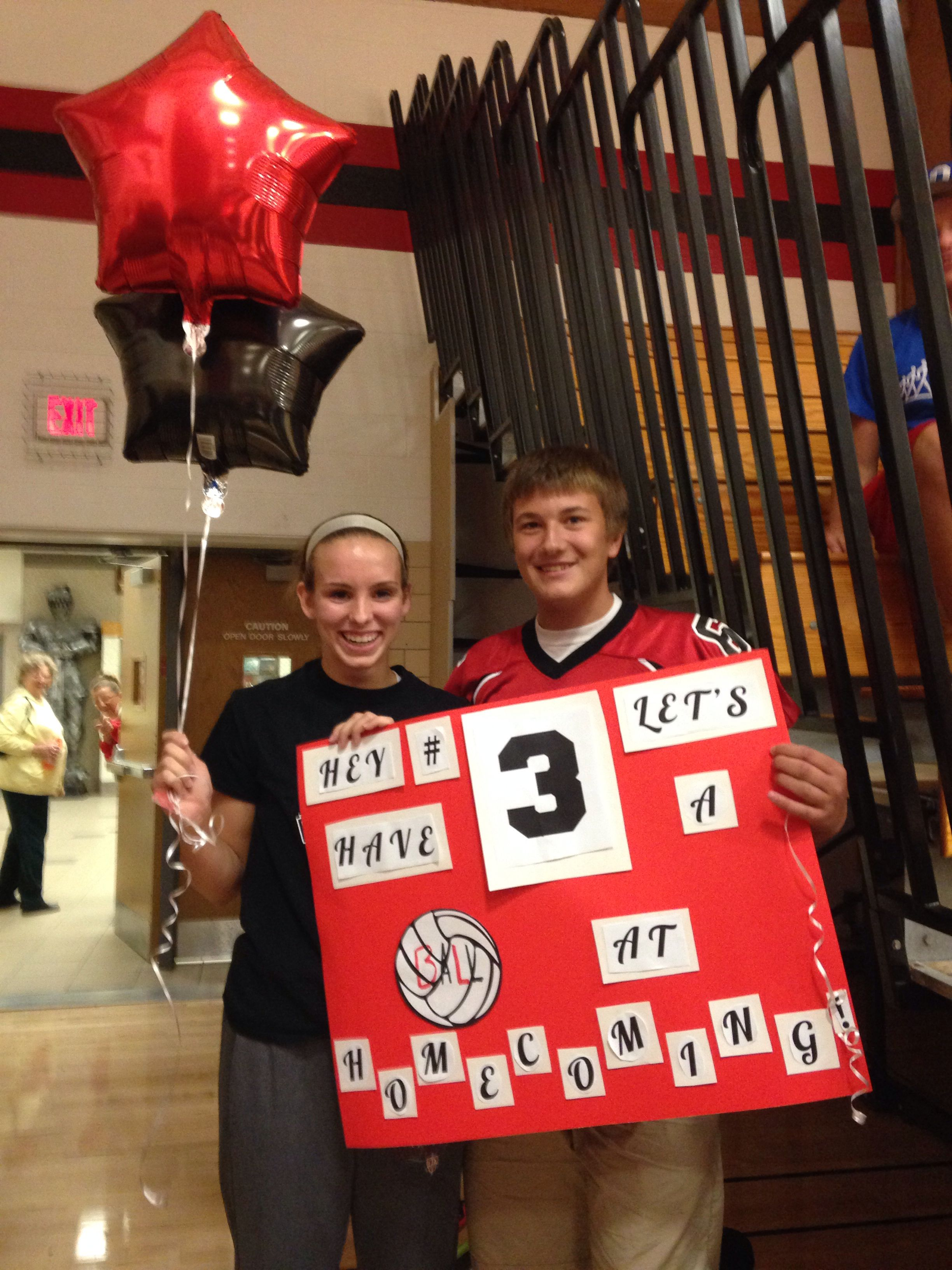 Perfect Way To Ask A Volleyball Player To Homecoming Don T Forget The Balloons Cute Homecoming Proposals Cute Prom Proposals Homecoming Proposal
