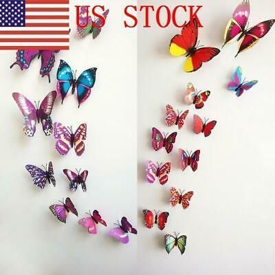 Ebay Link Ilj 60pc 5set 3d Butterfly Sticker Art Wall Mural Door