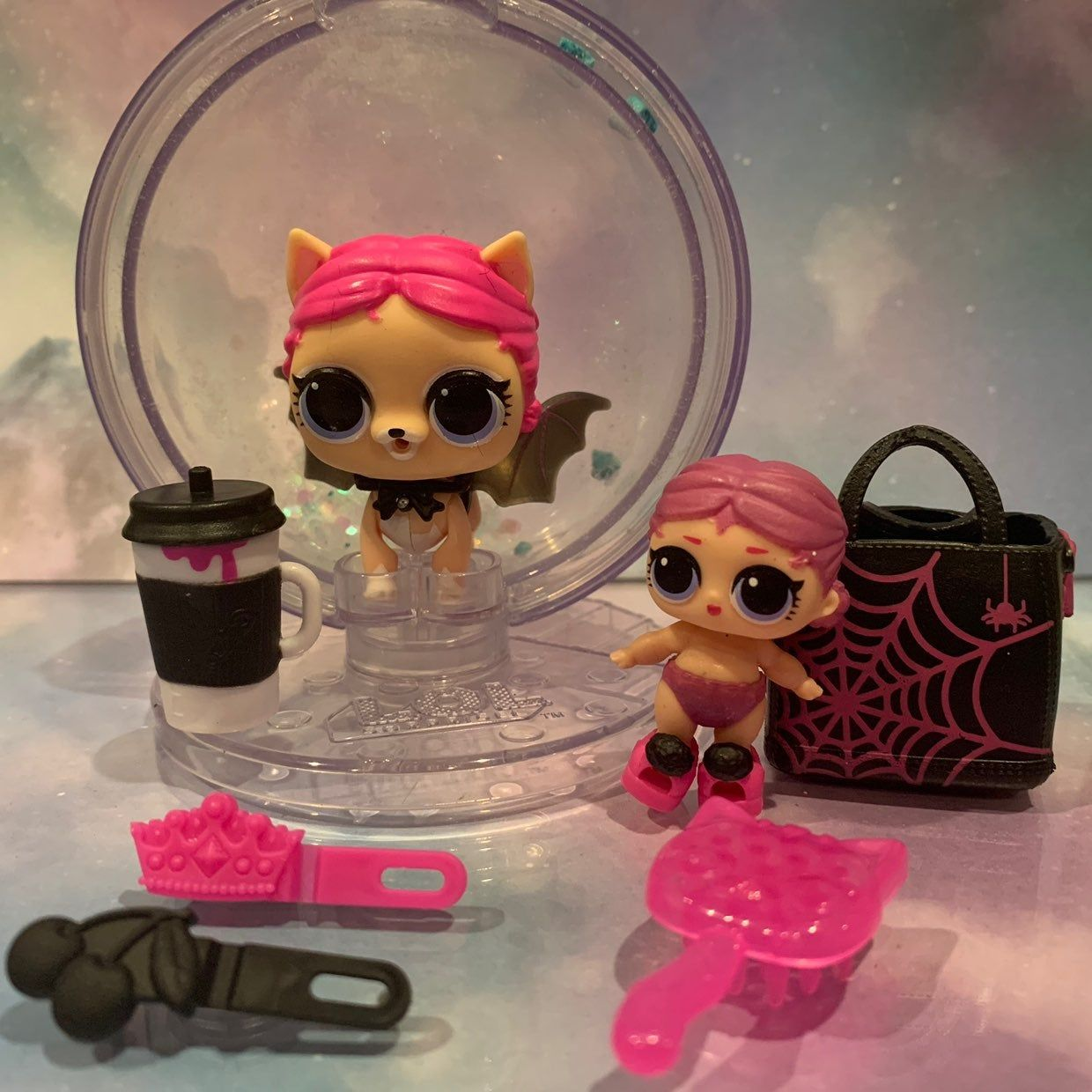 Lol Surprise Spooky Club Doll Lot Includes Vampupper Wd 025 Winter Disco Fluffy Pets Series Lil Countess 069 Eye Spy Series Vampupper Lol Dolls Dolls Lol