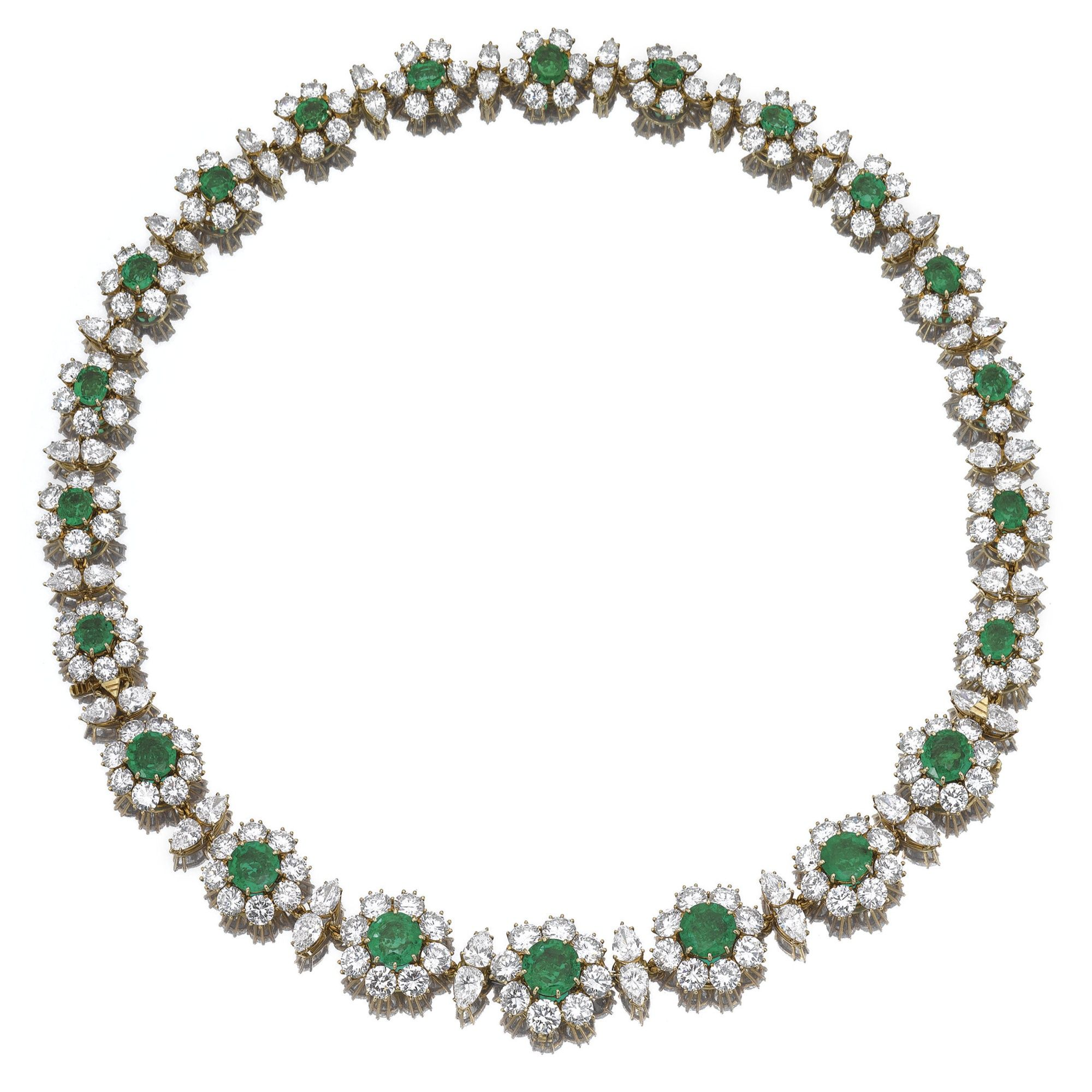 Attractive emerald and diamond necklacebracelet van cleef u arpels