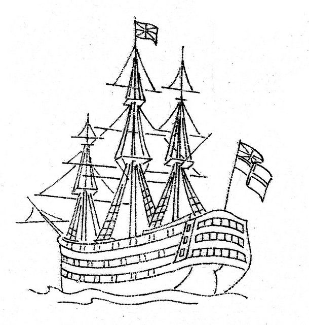 nelson3 | Sailing ships, Coloring pages, Boat