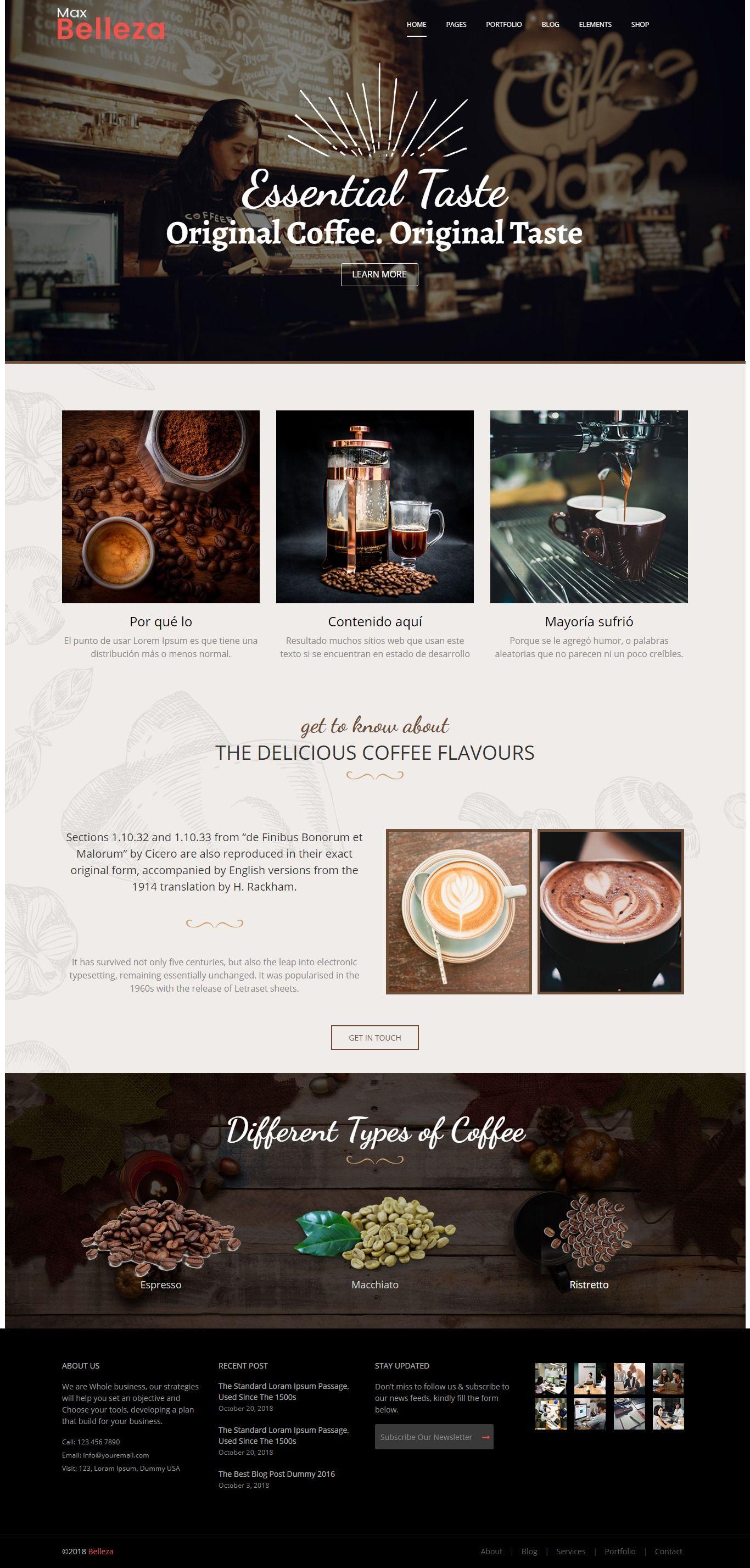 Coffee Shop Responsive Wordpress Themes For Multipurpose