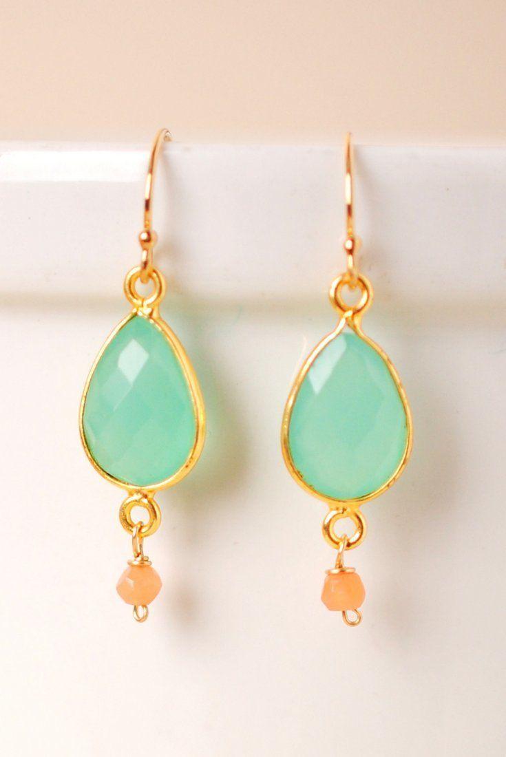 Harmony Chalcedony Dangle Earrings