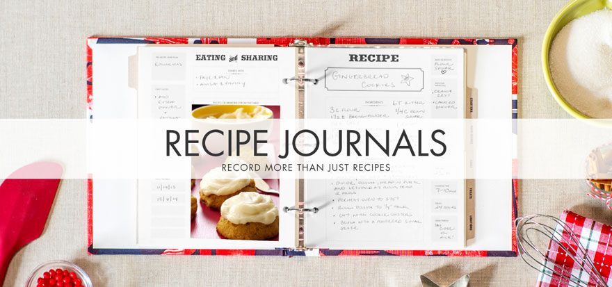 Featuring custom tab dividers and an easy-to-use binder format - recipe journals