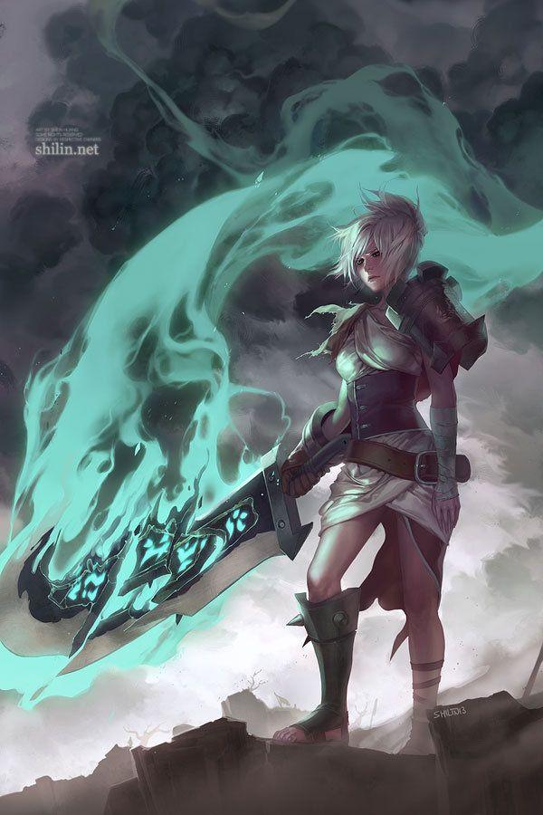 Riven Shilin Huang Lol League Of Legends League Of Legends Elo League Of Legends Characters