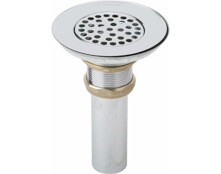 Elkay 3 1 2 Drain Nickel Plated Brass Body Strainer And Tailpiece Lk18 Bathroom Sink Drain Sink Drain Shower Drain