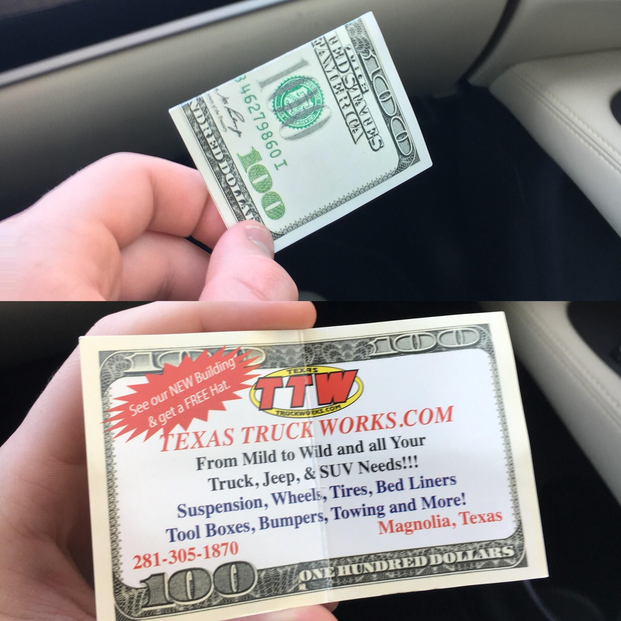 Interesting Business Card Makes You Think You Picked Up A 100 Bill