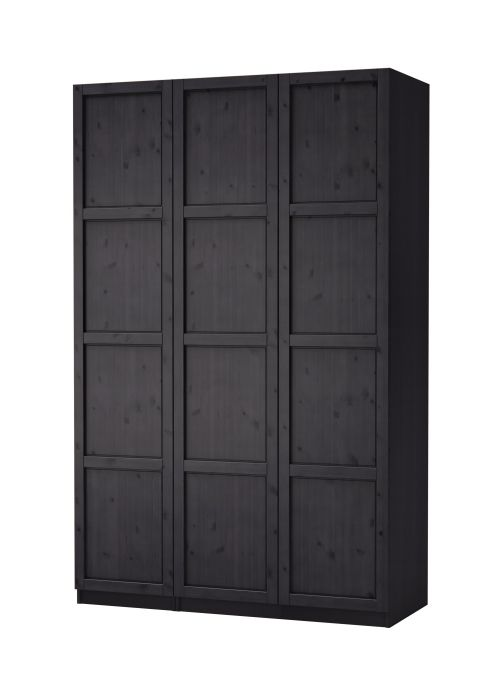 Pax Hemnes Wardrobe With Three Doors Ikea Pintowin A Wall Of These Would Take The Place Closet