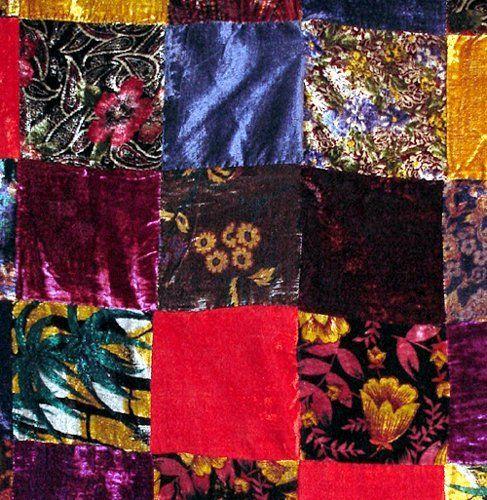 Multi Colored Velvet Patchwork Duvet Comforter Cover