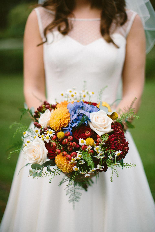 A Pretty Polka Dot Wedding Dress and Shades of Autumn