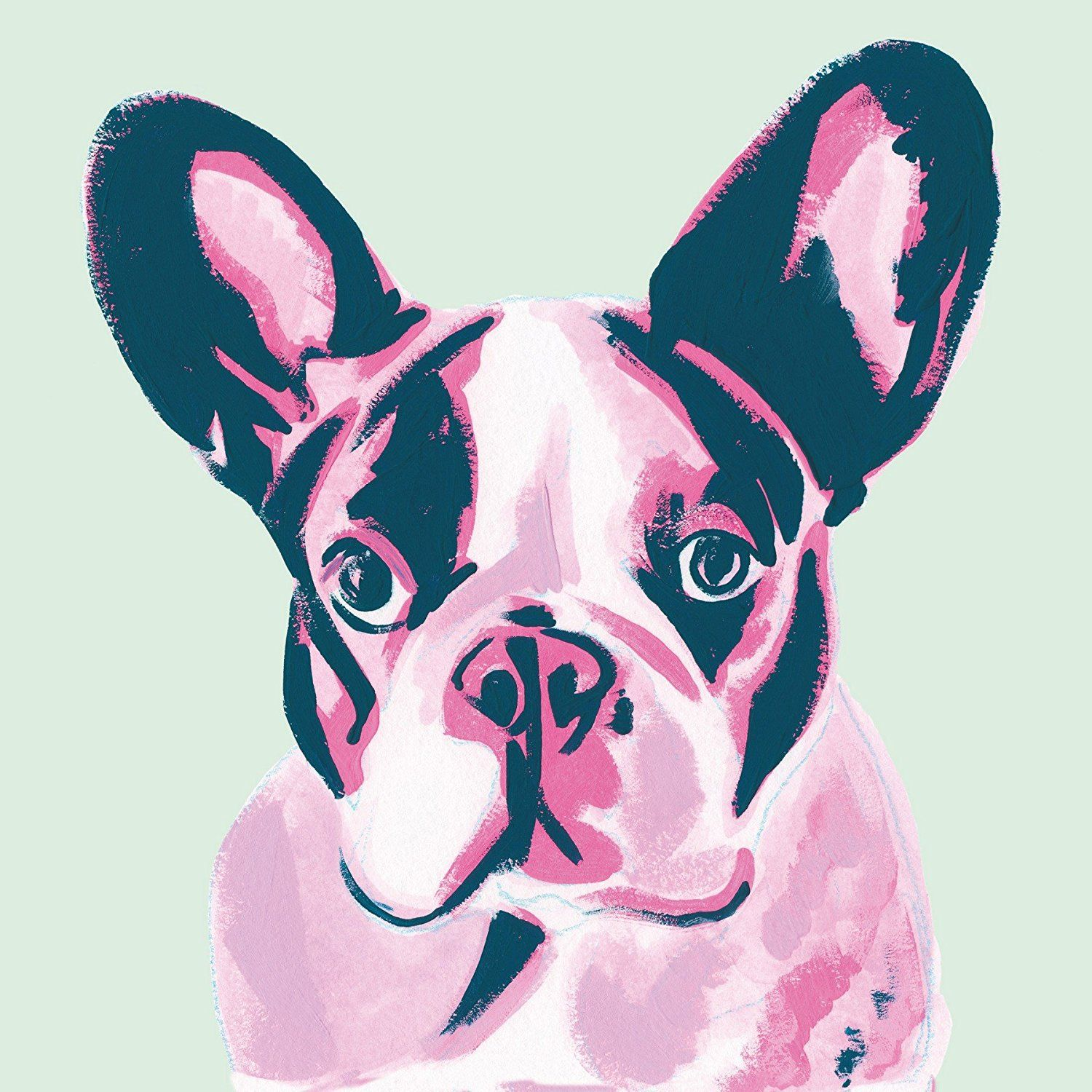 French Bulldog Pop Art Painting Inspired by Andy Warhol Painted with