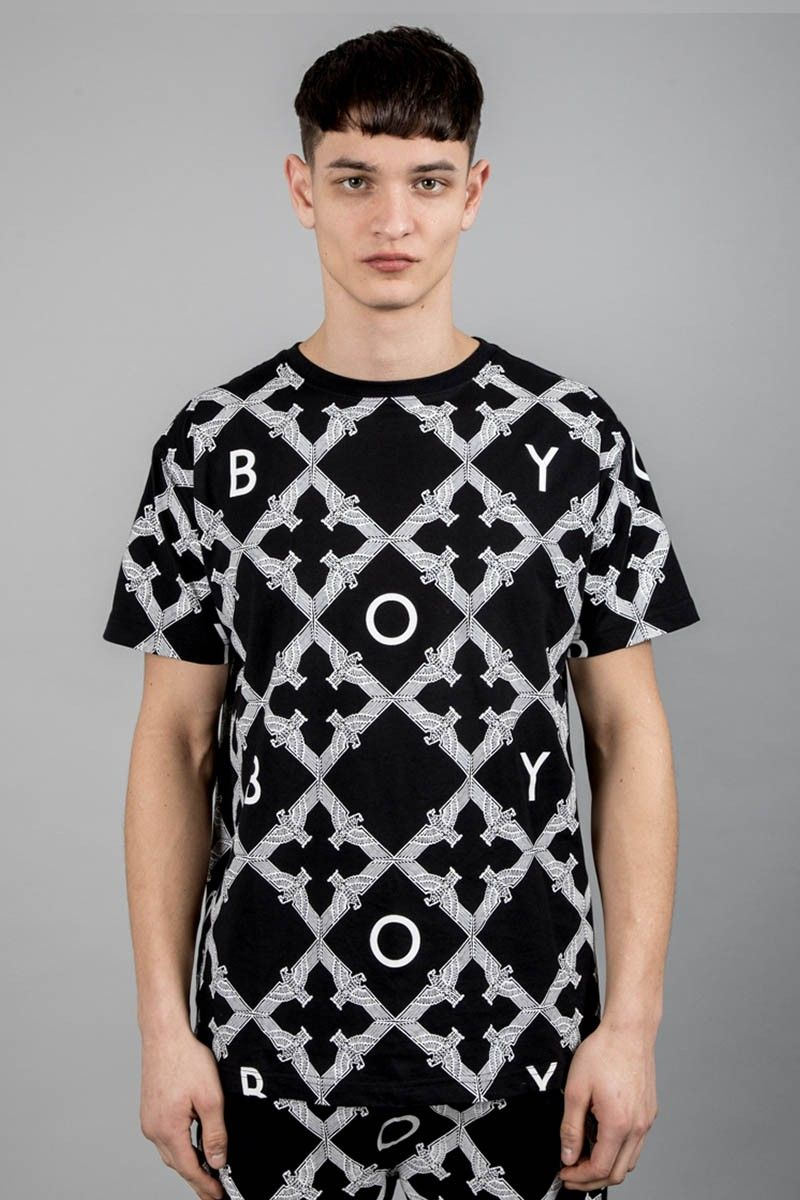 Boy echo t shirt black white in 2019 boylondon
