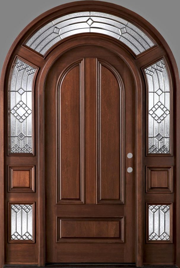 Beautiful Arched Wood Entry Doors