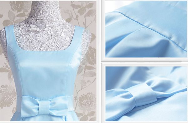 Vintage Square Neck Ruffled Bow Sleeveless Blue Women's DressVintage Dresses | RoseGal.com