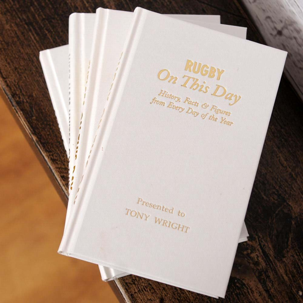I Just Love It Personalised Rugby On This Day Book Personalised Rugby On This Day Book Gift Details If Theyre Rugby Mad Our Perso Personalized Books Day Book
