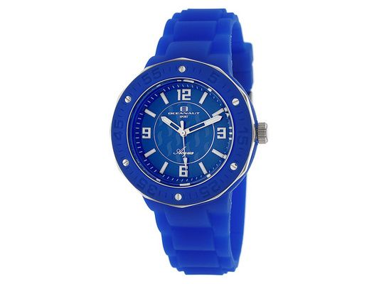 Oceanaut Women's Aqua Rubber Strap Watch