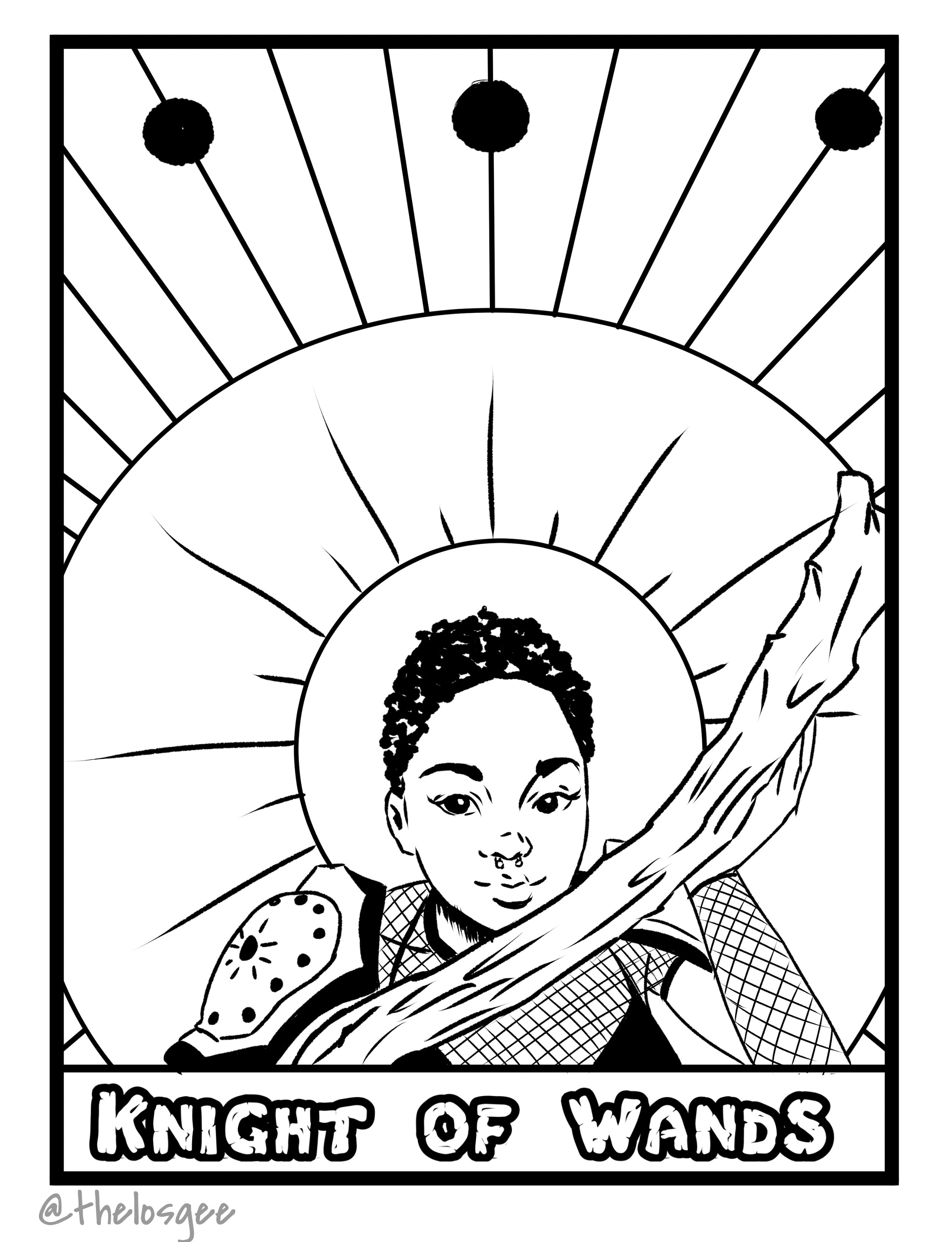 Free Tarot Card Coloring Page From Carlos Gee S Tarot Tales