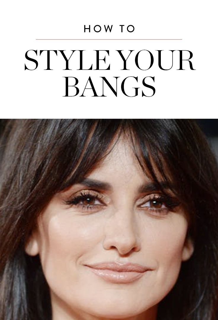 Finally how to style your bangs so theyure not weird and poufy