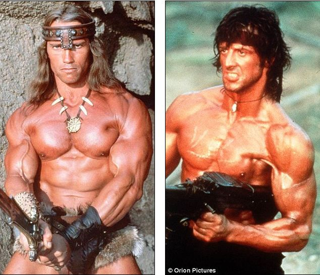 8f499d399990 Conan   Rambo. Find this Pin and more on When I Was Young by Lori Langver.