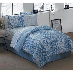 Avondale Manor Edgewood 8 Piece Bed In A Bag Set King Blue Kmart