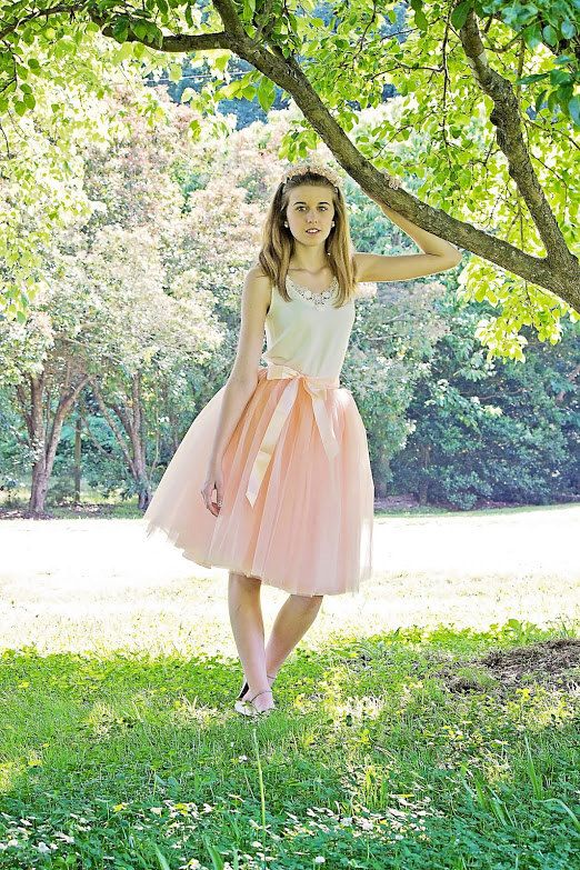 Beautiful tulle skirt made with a pretty blush pink tulle in womens sizes including plus sizes. Skirt is made of 6 layers of the highest