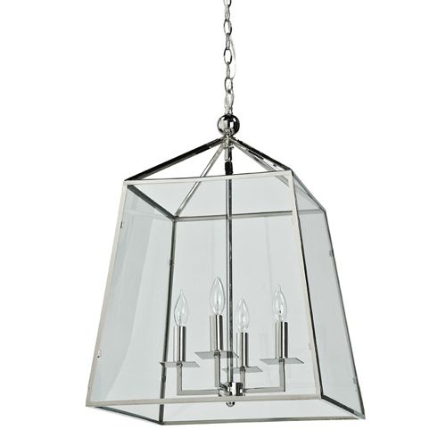 Metal and Glass Lantern kitchen