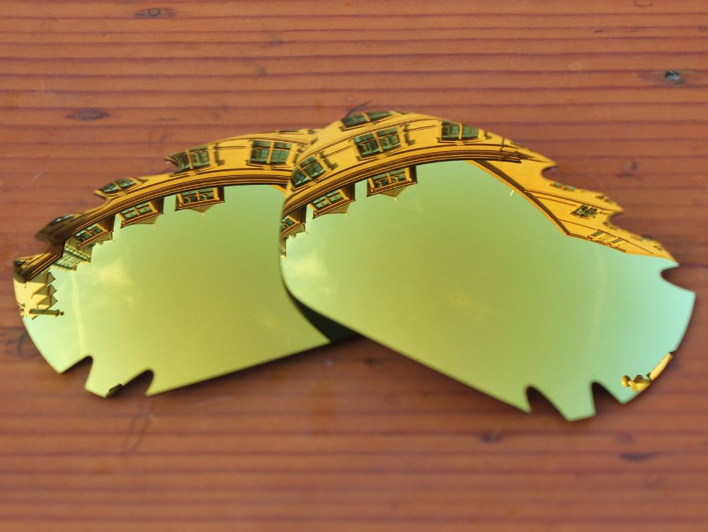 Polycarbonate-24K Golden Mirror Replacement Lenses For Jawbone Vented Sunglasses Frame 100% UVA & UVB Protection