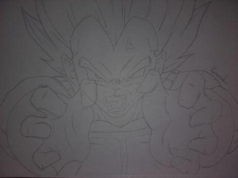 final flash vegeta drawing sketch