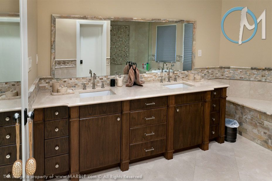 Crema marfil for the home pinterest marbles countertops and stone countertops for Crema marfil bathroom countertop