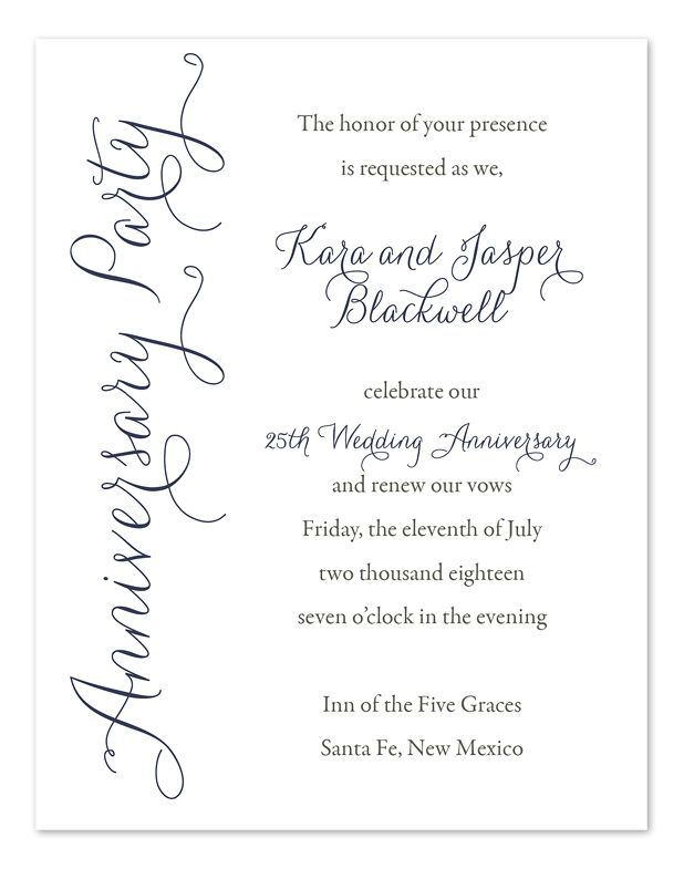 50th Wedding Anniversary Invite Wording | anniversary party ...