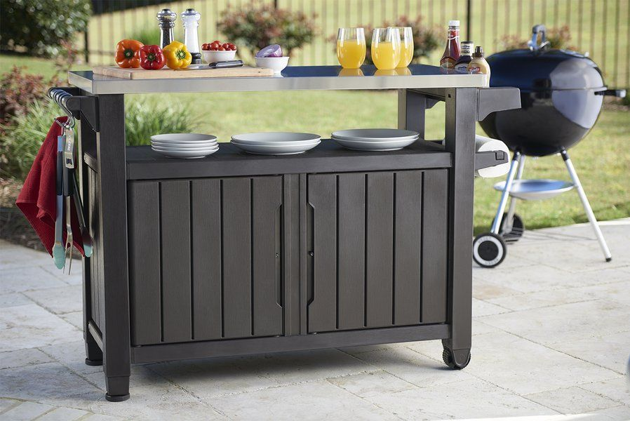 Cambron Caster Bar Serving Cart Bbq Table Serving Cart Outdoor Kitchen