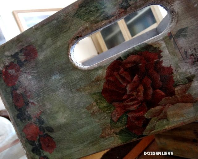 dosdenueve - 2d9: Caja de madera vintage