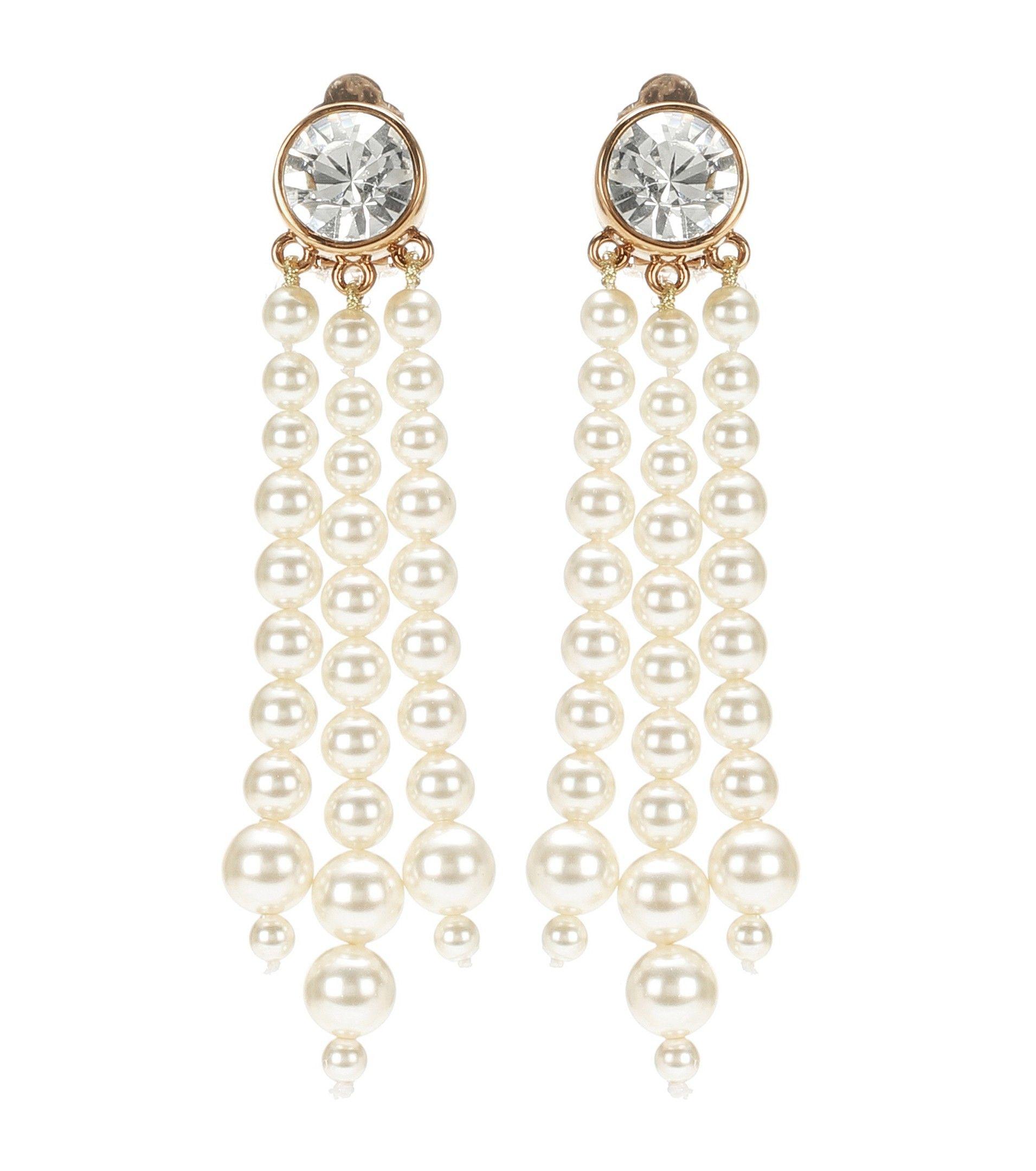 Stella McCartney Faux pearl clip on earrings Jewels