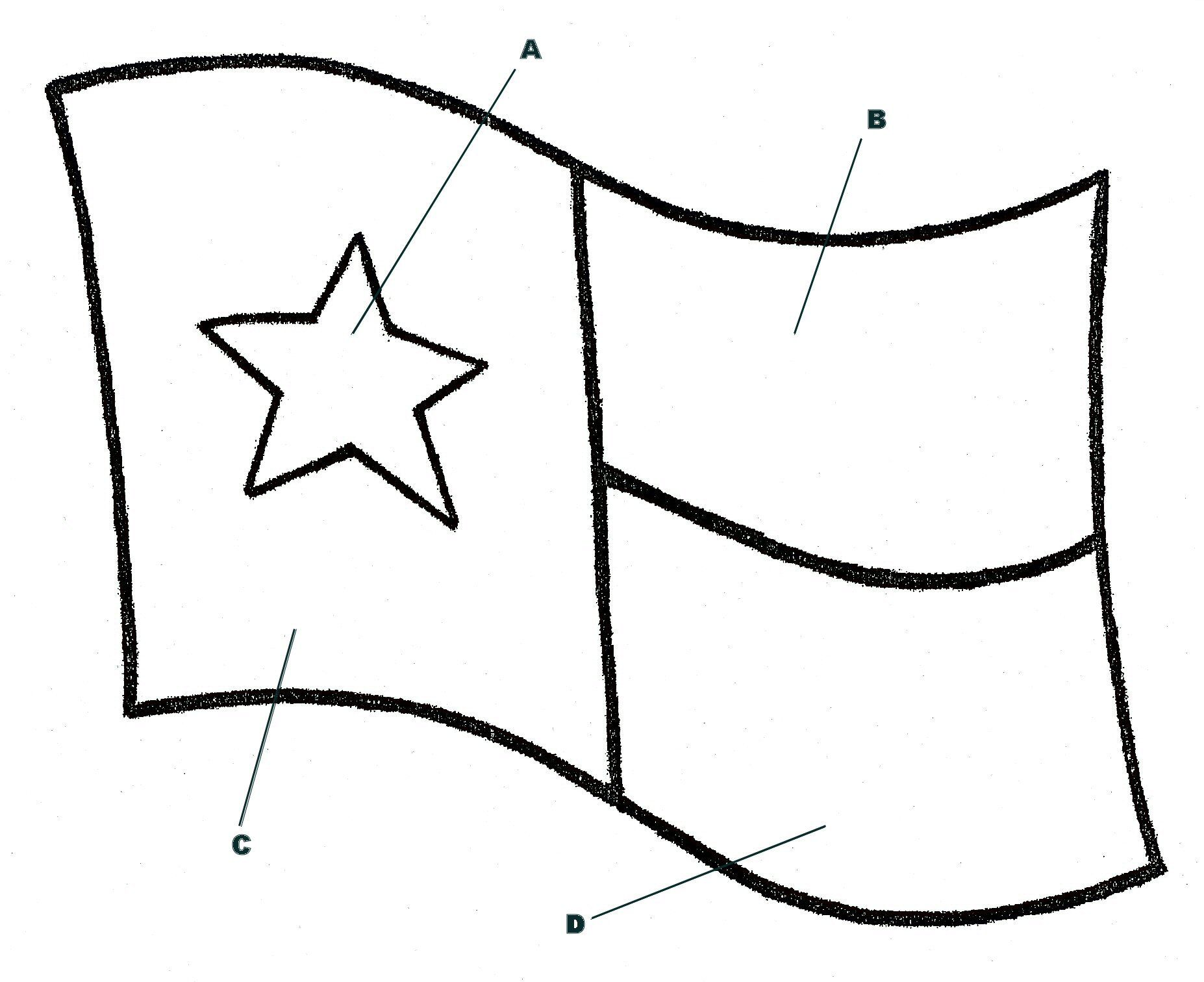 Lesson idea for teaching flags of Texas and their