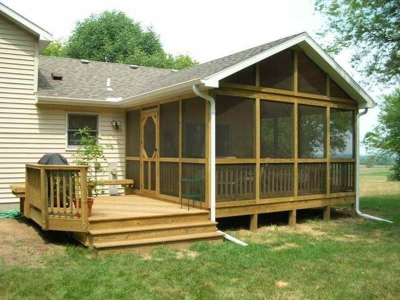 Tags enclosed back porch designs screened in back for Small enclosed deck ideas